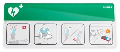 AED Awareness Placard Green